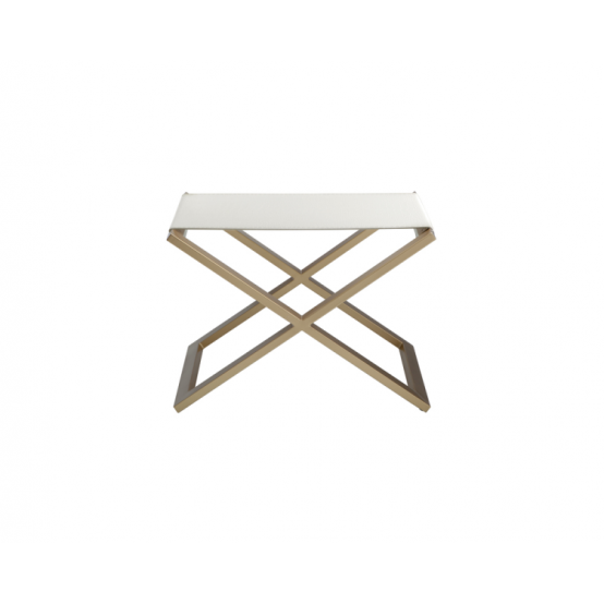 Accadia Golden base Bench White