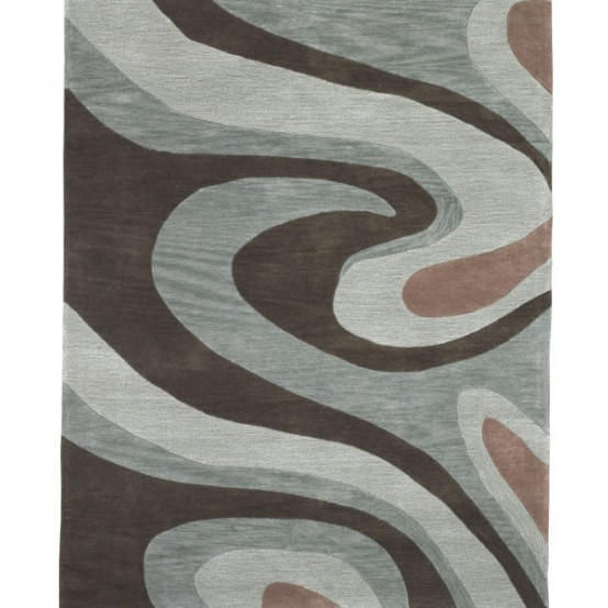 AQUAS BROWN/GREY 5' x 7.6'