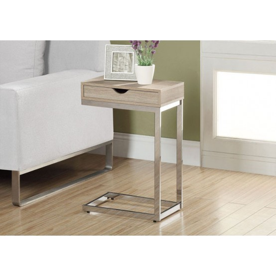 Diva  C Table With Drawer Natural