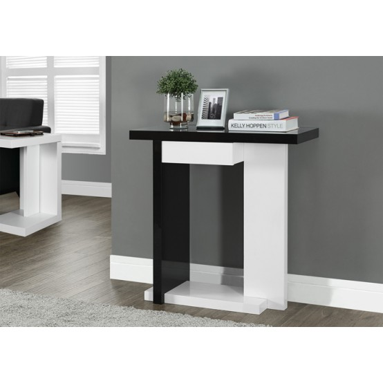 Haul Accent Table Black and White
