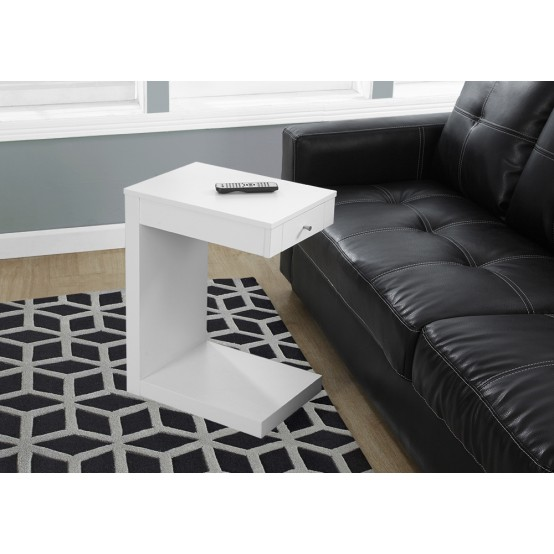 Block Accent Table with Drawer