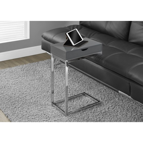 Diva  C Table With Drawer Glossy Grey