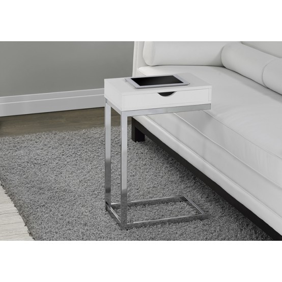 Diva  C Table With Drawer Glossy White