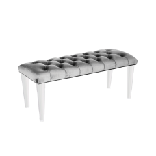 GLAMOUR BENCH - LIGHT GREY FABRIC