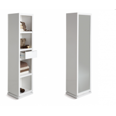 Joshua swivel bookcase with mirror