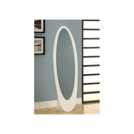 Oval Mirror White