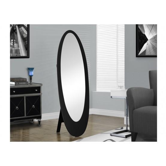 Oval Mirror Black