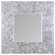 Pearl White Mosaic Square Mirror