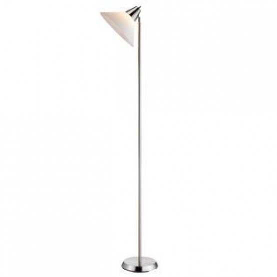 Swivel Floor Lamp Brush Steel