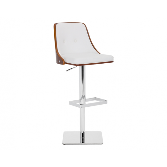 BRAIDEN ADJUSTABLE BARSTOOL WHITE