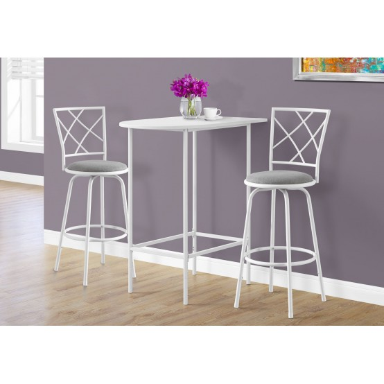 Brianna Bartable 2 Barstools Set White