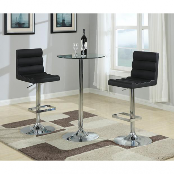 Carver Adjustable BarStool Black