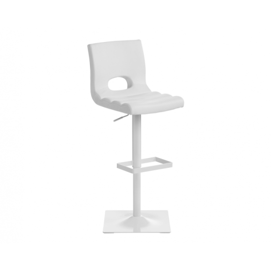 DONOVAN ADJUSTABLE BARSTOOL White