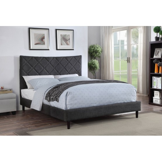 Don Upholstered Bed Dark Grey From