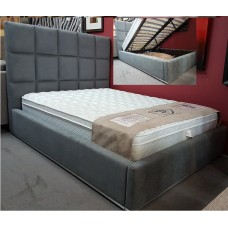 Glare Hydraulic Storage Bed In Grey Denim From