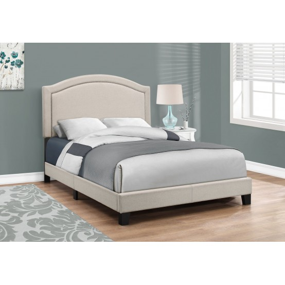 Granada Bed Frame 3 Sizes Tan Linen From