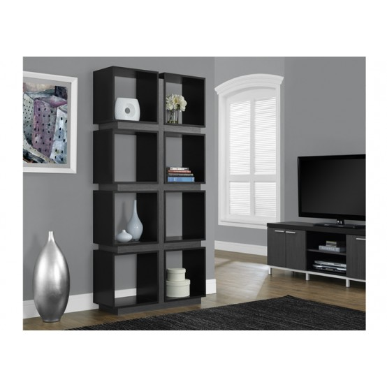 Dover Bookcase Black/Grey
