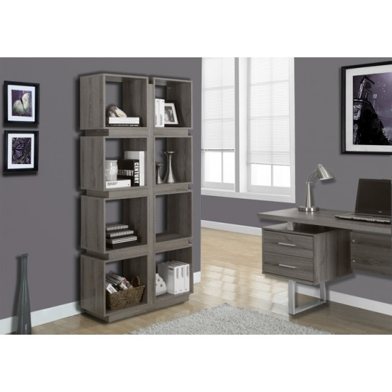 Dover Bookcase Dark Taupe