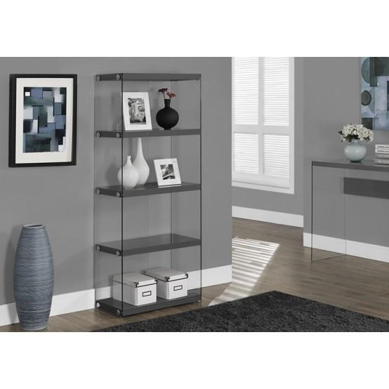 Nova Small Bookcase Glossy Grey