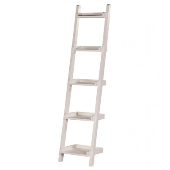 Ladder Bookcase White