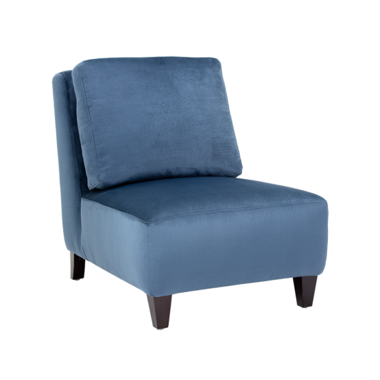 EVELYN CHAIR - INK BLUE FABRIC