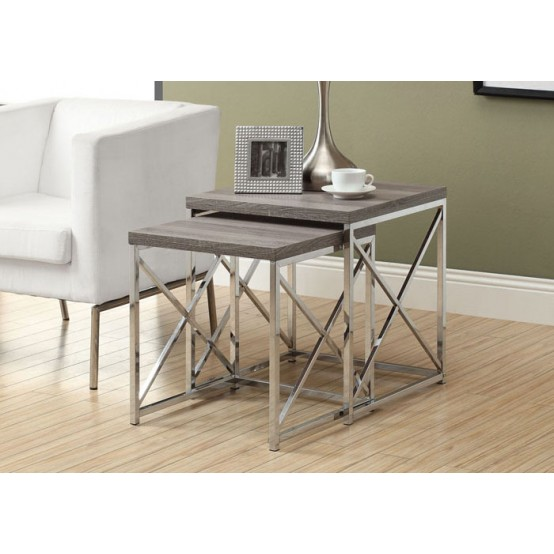 Diva Nesting Table  Set Dark Taupe