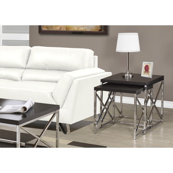 Diva Nesting Table  Set Cappuccino