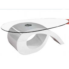 Roman Coffee Table  Glossy White