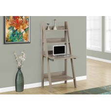 Organic Ladder Office Desk Dark Taupe