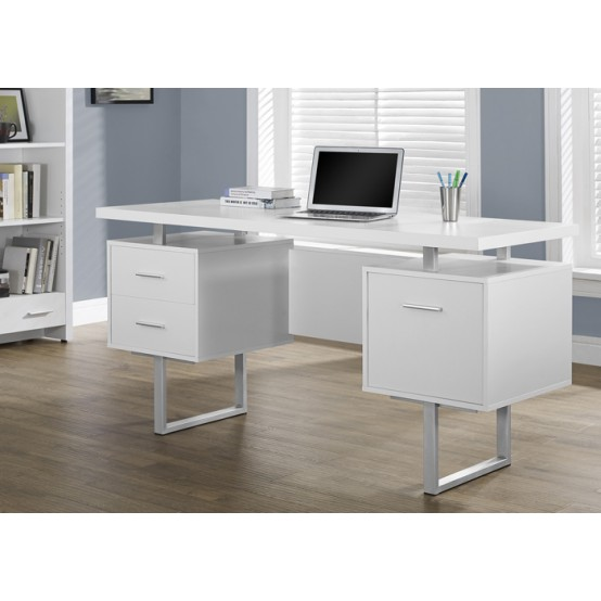 Wave Office Desk  White
