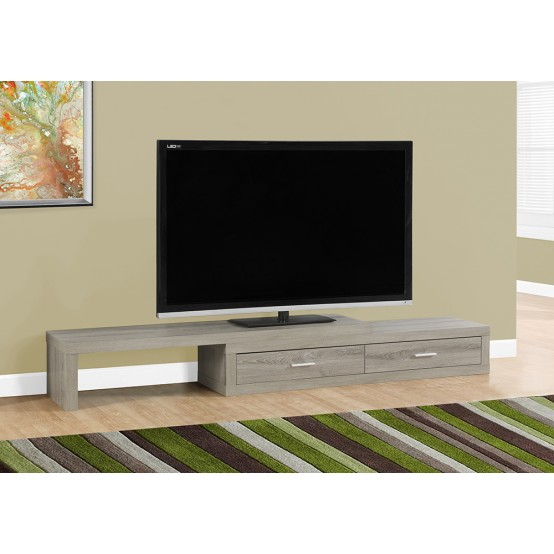 Lava Expandable TV Stand Dark Taupe