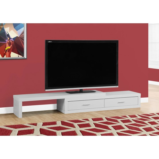Lava Expandable TV Stand White