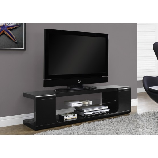 Hale TV Stand Glossy Black