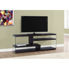"""NOVA TV STAND – 60""""L / CAPPUCCINO WITH TEMPERED GLASS"""