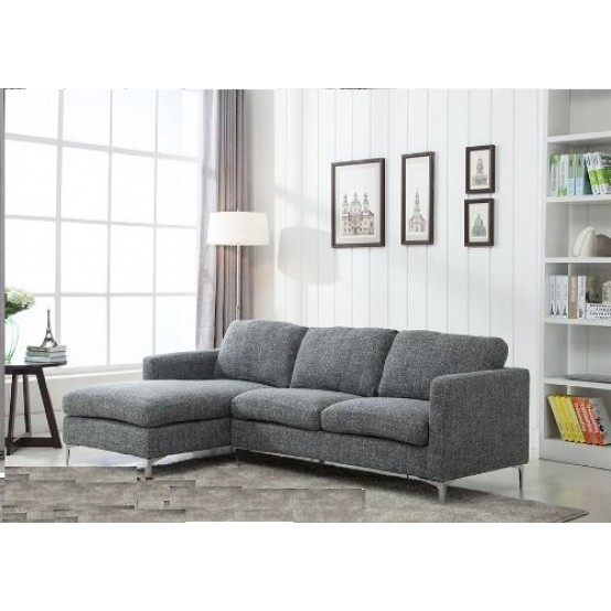 Arrows Sofa with Reversible Lounge Grey