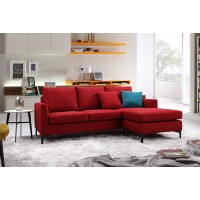 Oxford Sofa with Reversible Lounge Red