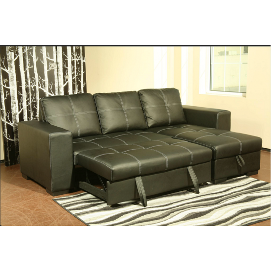 Comox Sofa Bed with Storage Black