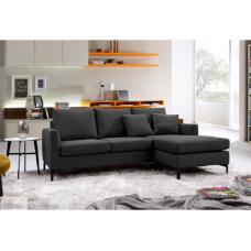 Oxford Sofa with Reversible Lounge Black