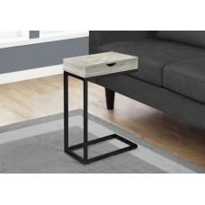 Diva  C Table  GREY RECLAIMED WOOD-LOOK / BLACK / DRAWER