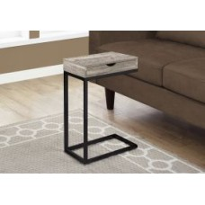 Diva  C Table TAUPE RECLAIMED WOOD-LOOK / BLACK / DRAWER