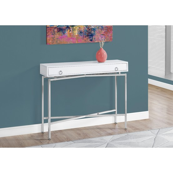 Entree Console Table Glossy White