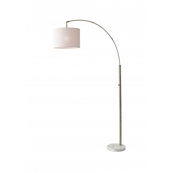 Bowery Arch Lamp White Shade