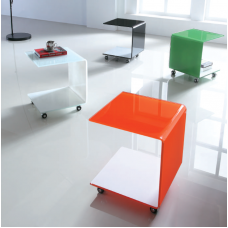 Coral Trolley Accent Table  On Casters