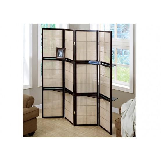 Deco Divider 4 Panel / 2  Shelves