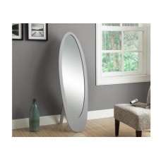 Oval Mirror Grey