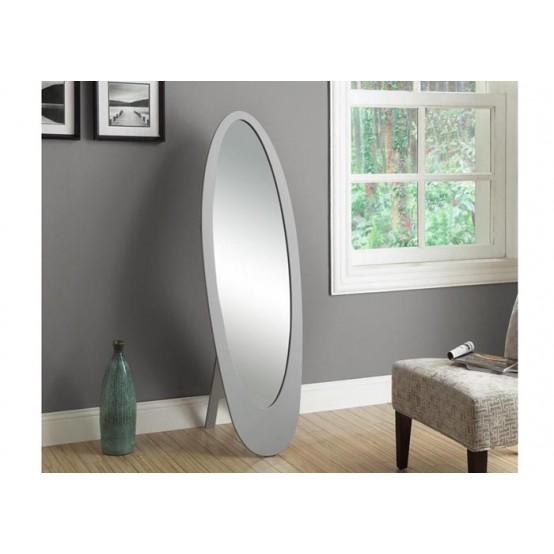 Oval Mirror Grey