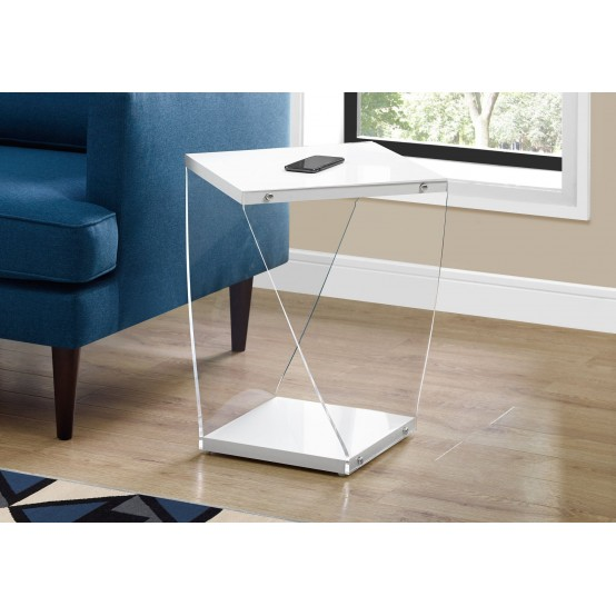 Twist End Table Glossy white