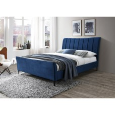 Kamile Platform Bed Blue From