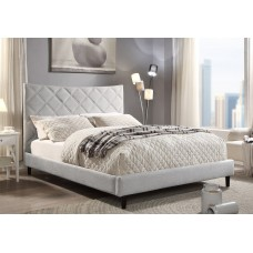 Don Upholstered Bed Creamy Grey From