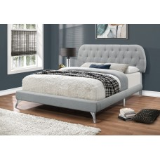 JAY BED GREY LINEN WITH CHROME LEGS  (2 SIZES FROM 298.00)